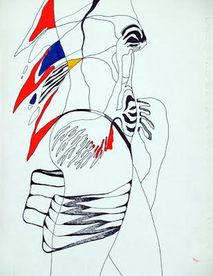 Mujer, dibujo de L.G.Mayo