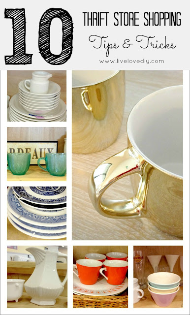 Top 10 Thrift Store Shopping Tips: How To Decorate on a Budget. Such great ideas! Totally obsessed with tip #5.