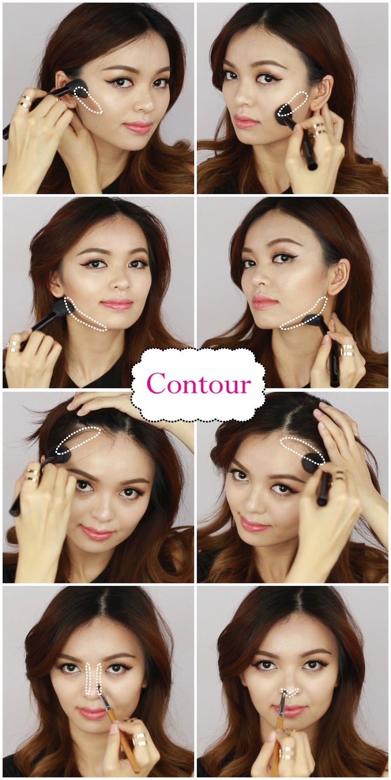 how to put on contour powder makeup