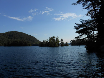 Lake George island camping.  View of Shelving Rock Mountain, Gem and Little Gem Islands from Big Burnt Island.The Saratoga Skier and Hiker, first-hand accounts of adventures in the Adirondacks and beyond, and Gore Mountain ski blog.