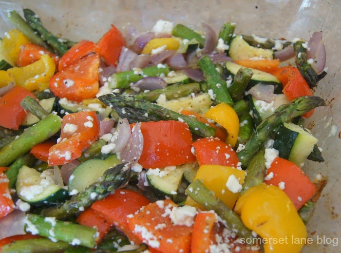 Roasted Vegetables - perfect as a side dish or over salad greens