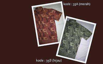 Baju Batik Pria 35AB