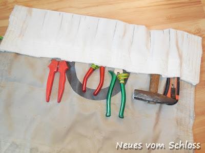 Creadienstag, upcycling, Werkzeugtasche- neuesvomschloss.blogspot.de