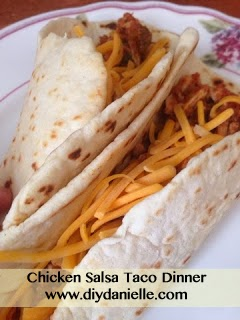 How to make homemade tortillas and a chicken salsa taco dinner