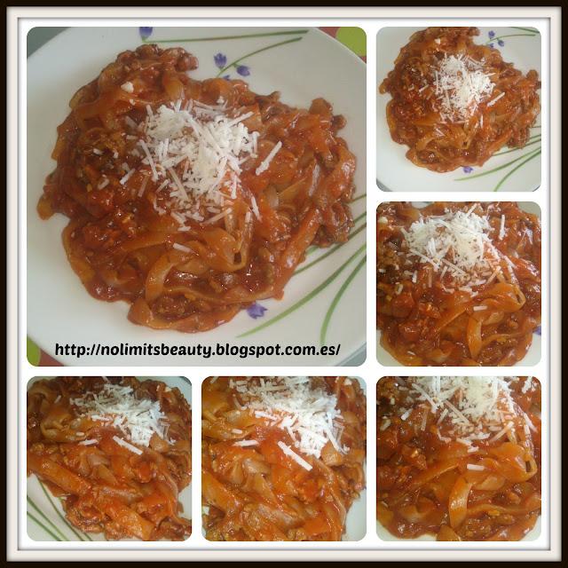 Miracle Noodles de iHerb a la Boloñesa