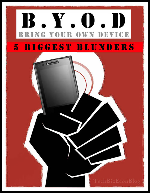 Top BYOD Blunders When Trying To Realize The Productivity Potential Of Workers Bringing Their Own Devices To Work