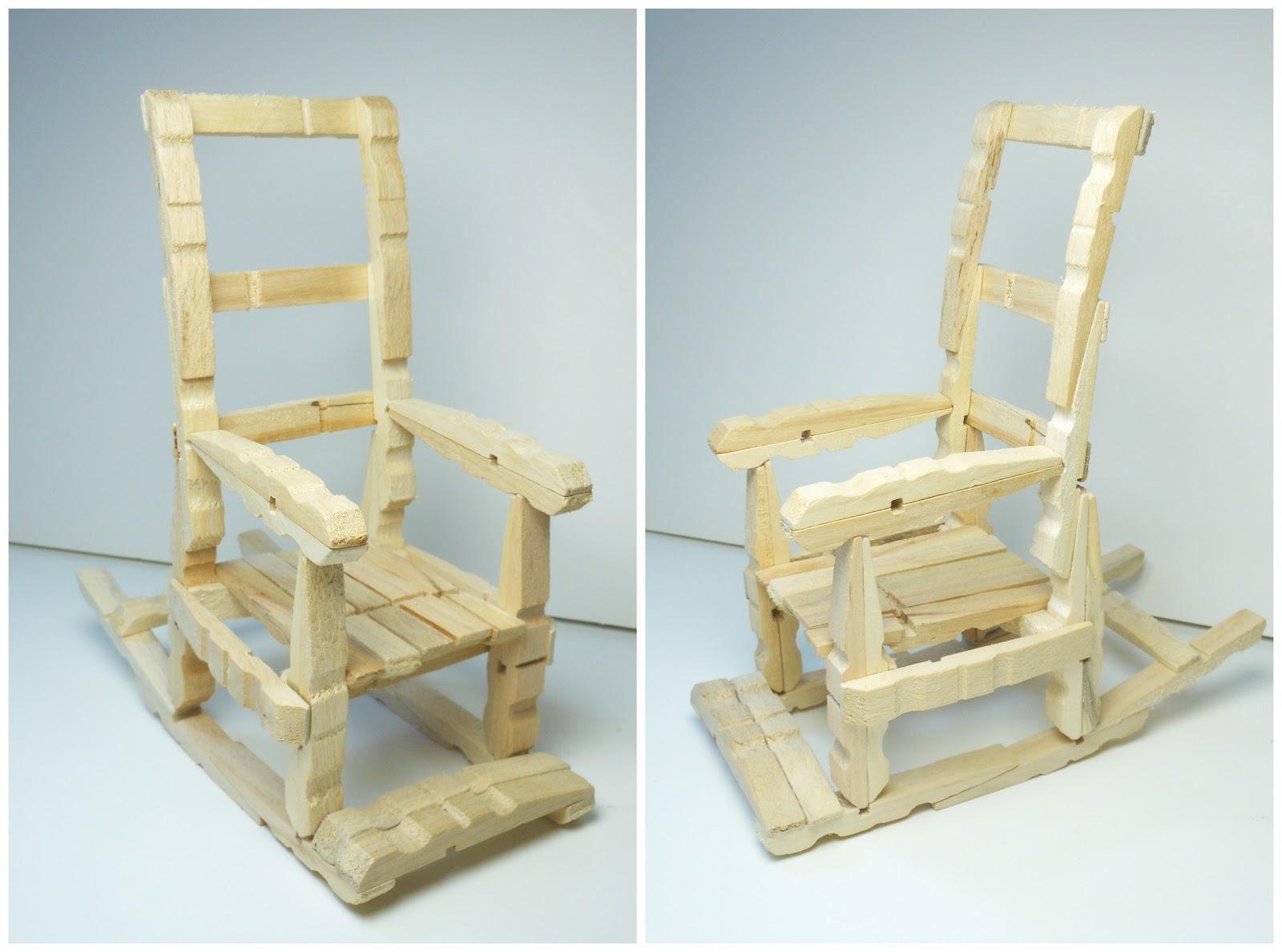 Mundo party silla mecedora con pinzas para la ropa - Una silla para ...