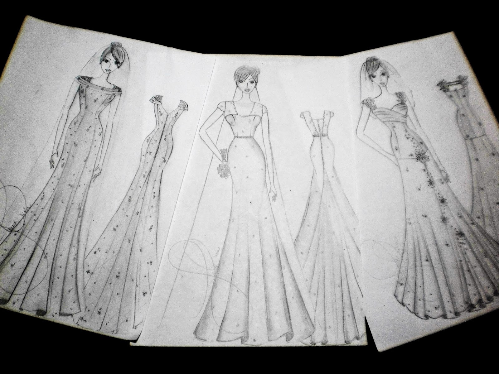 Desenho vestido de noiva, desenho de moda, croqui, noiva, vestido, modelos, desenho Gleikka