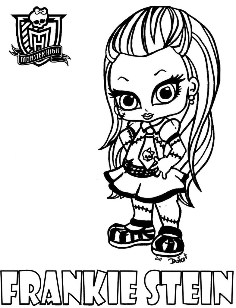 Monster high lovers desenhos para colorir baby - Coloriage monster high baby ...