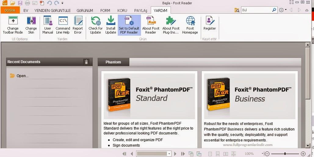 Foxit Reader 6.2.2.0802 Türkçe Full Tam indir