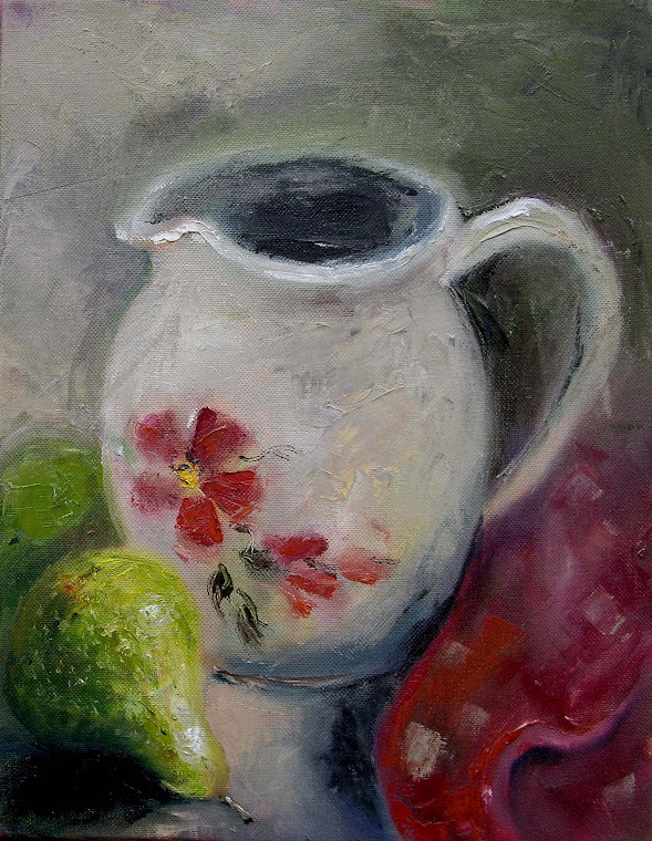 Water Pitcher with Pears