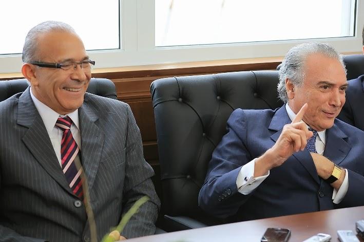 Deputado Eliseu Padilha e vice-presidente da República Michel Temer