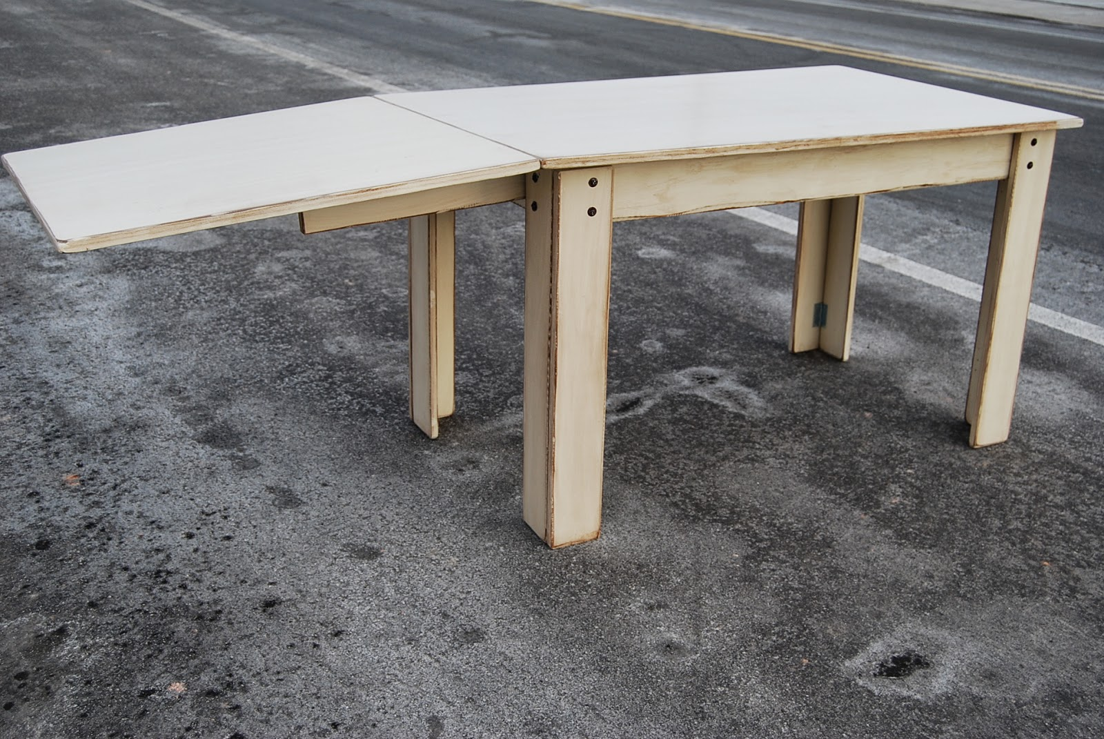 Make A Drop Leaf Plywood Sewing Table