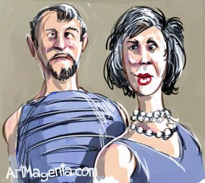 Portrait caricature by ArtMagenta