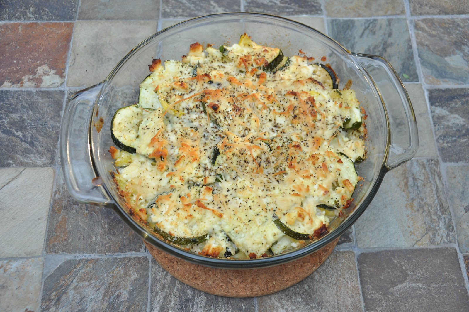 365 Days of DIY: Zucchini Bake with Feta and Fresh Thyme