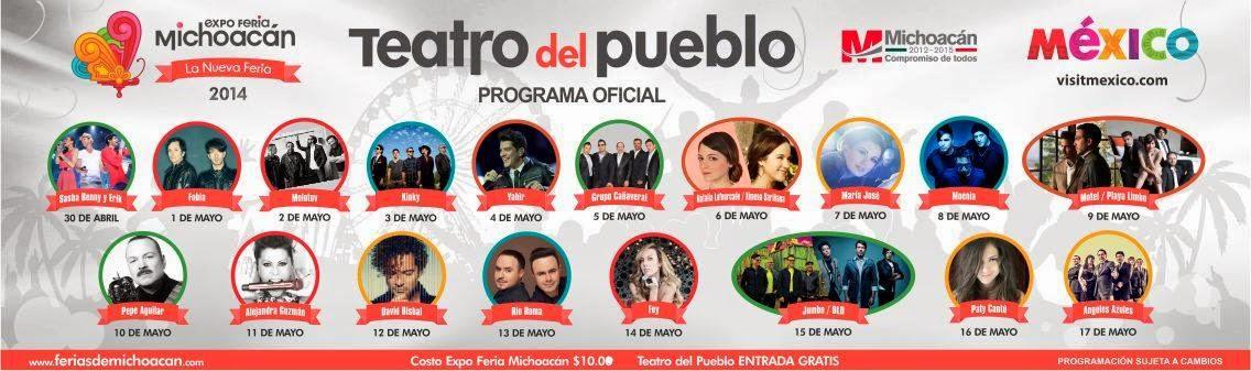 artistas teatro del pueblo feria Michoacán 2014