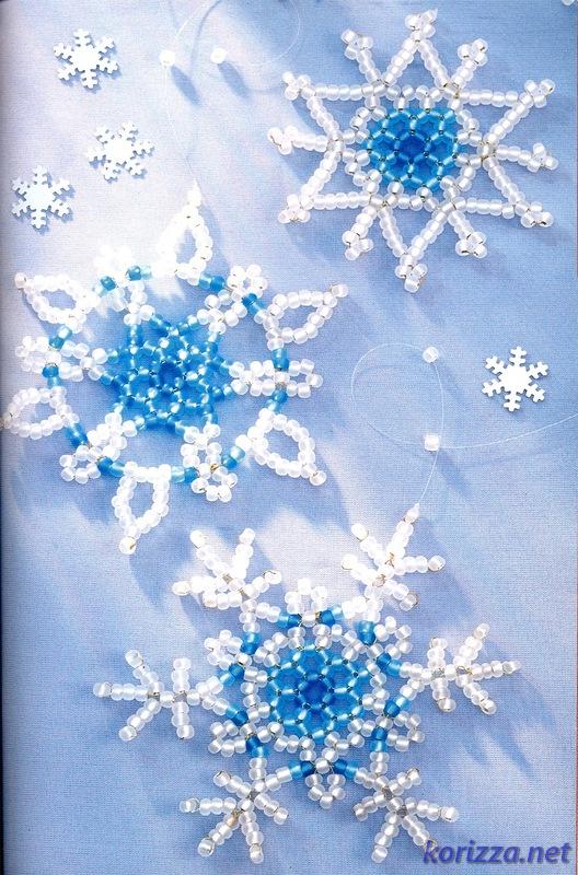 новогодние украшения снежинки