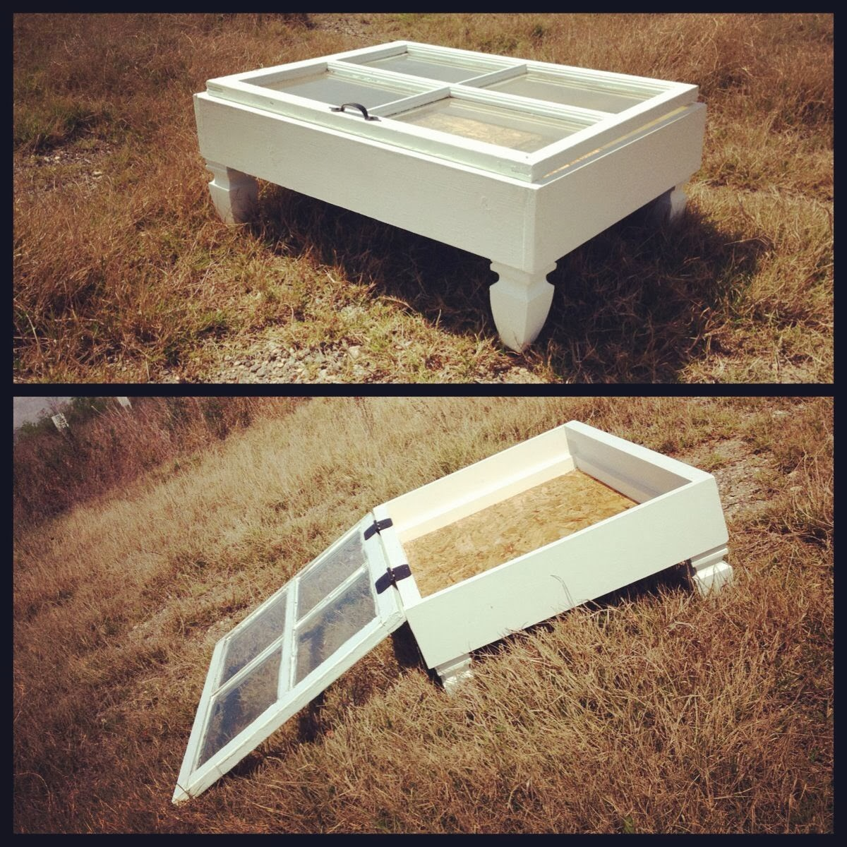 mister b's bus: past project post :: vintage window coffee table