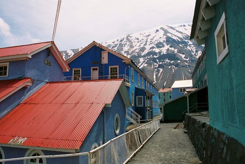 The abandoned town of Sewell, Andes, Chile.