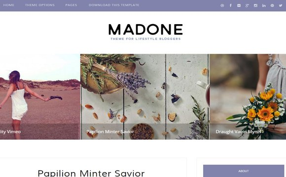Madone Personal Blogger Template