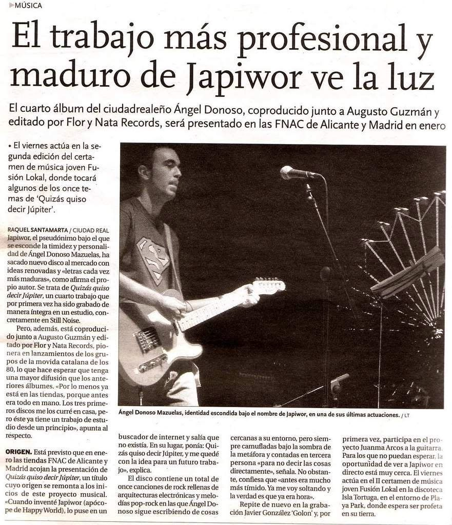 10/12/2007 LA TRIBUNA DE CIUDAD REAL