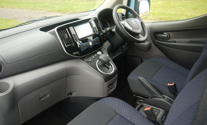 Nissan e-NV200 front interior
