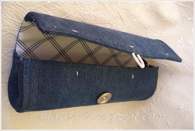 Клатч из джинсы мастер класс