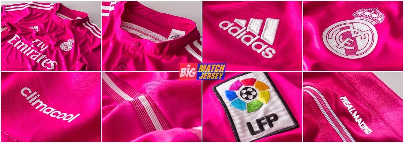 Detail Jersey Grade Original Real Madrid Away 2015 Official