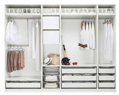 Superb IKEA Carries The PAX System, Which Allows You To Build Your Own Dream Closet  With The Components And Features That ...