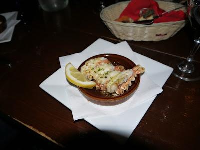 Tapas Barinn Lobster tails baked in garlic