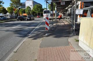 Amsinckstraße - Baustelle