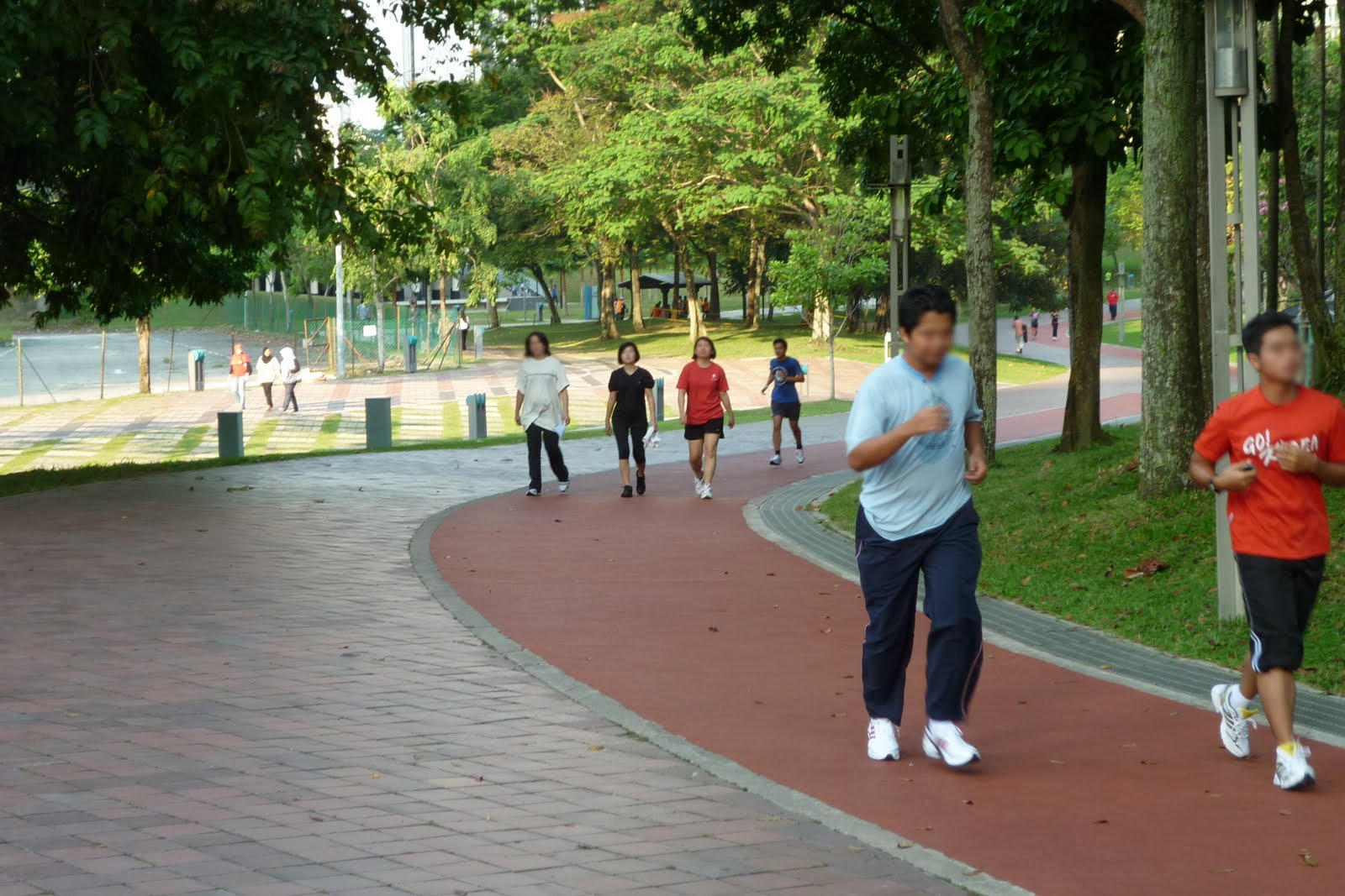 Why do we run anti-clockwise in a jogging track?