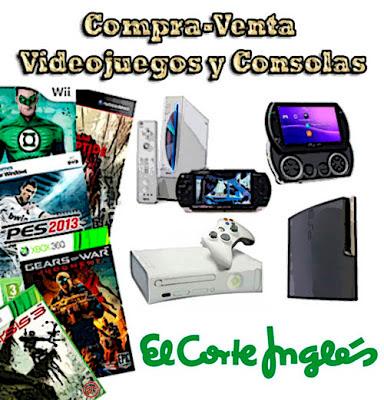 ElcorteInglés compra-venta de videojuegos y consolas usados