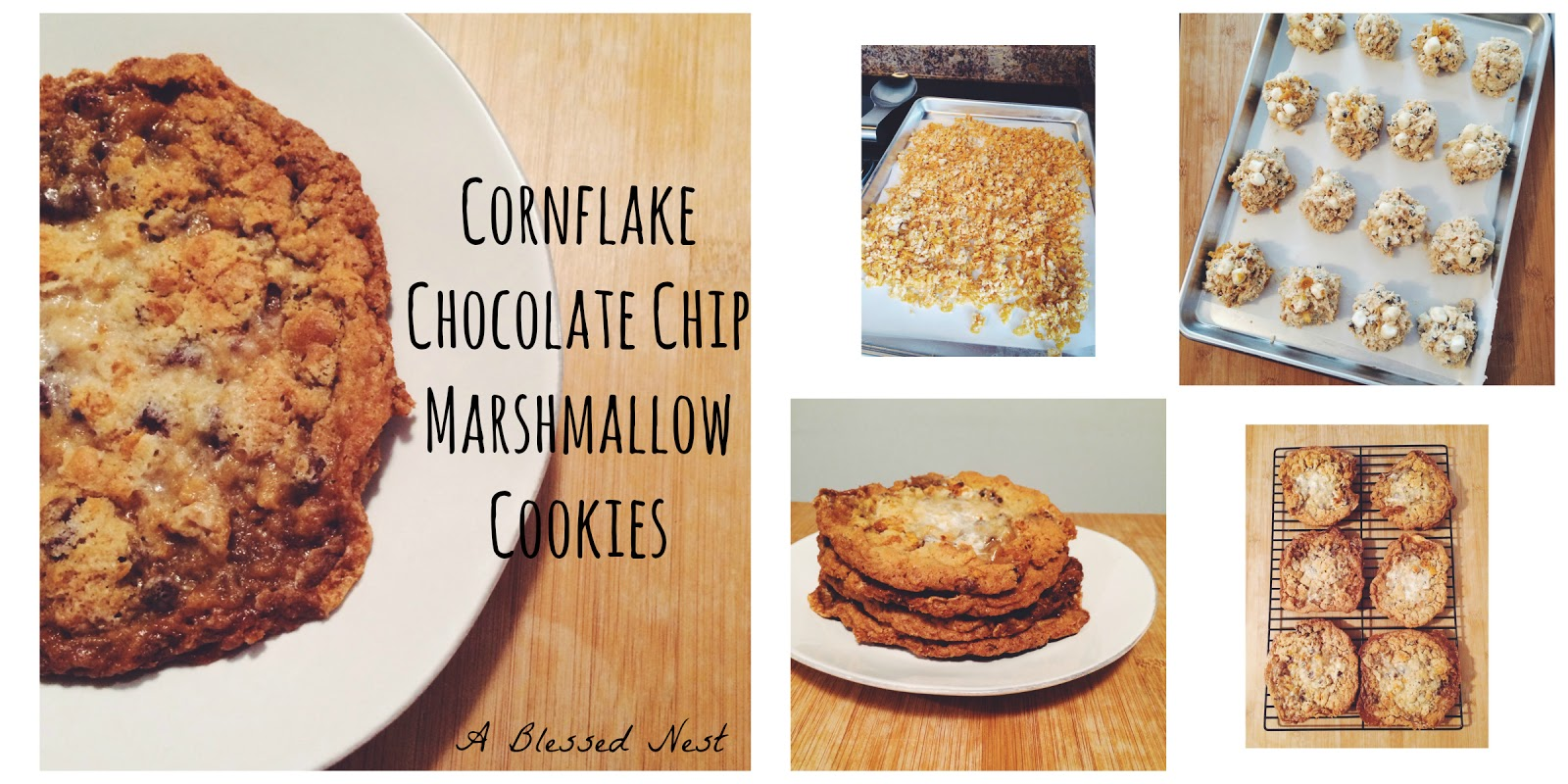 Blessed Nest: cornflake chocolate chip marshmallow cookies
