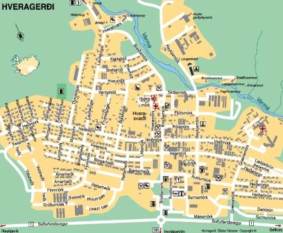 Mapa de Hveragerdi