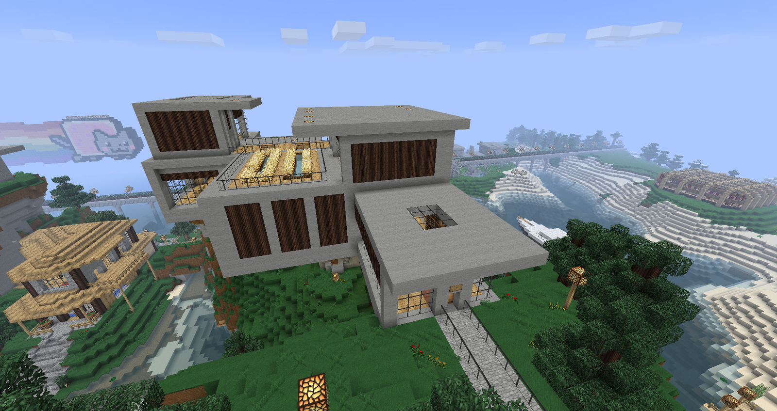 Ruked on minecraft modern house schematics 01 for Modern house schematic