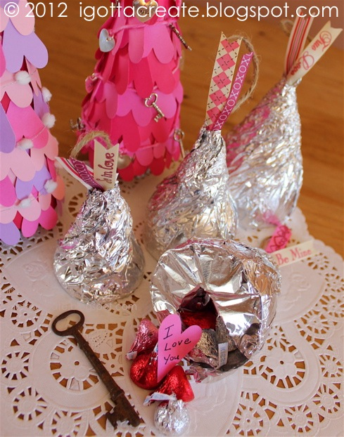 #Valentine paper heart cone tree tutorial is at: http://igottacreate.blogspot.com/2012/02/valentine-heart-cone-tree-tutorial.html