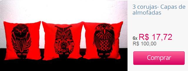Capas para almofadas 42 x 42 cm, com estampa em xilogravura Xilo Shirt