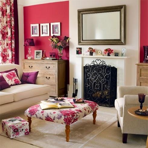 desain interior berwarna pink