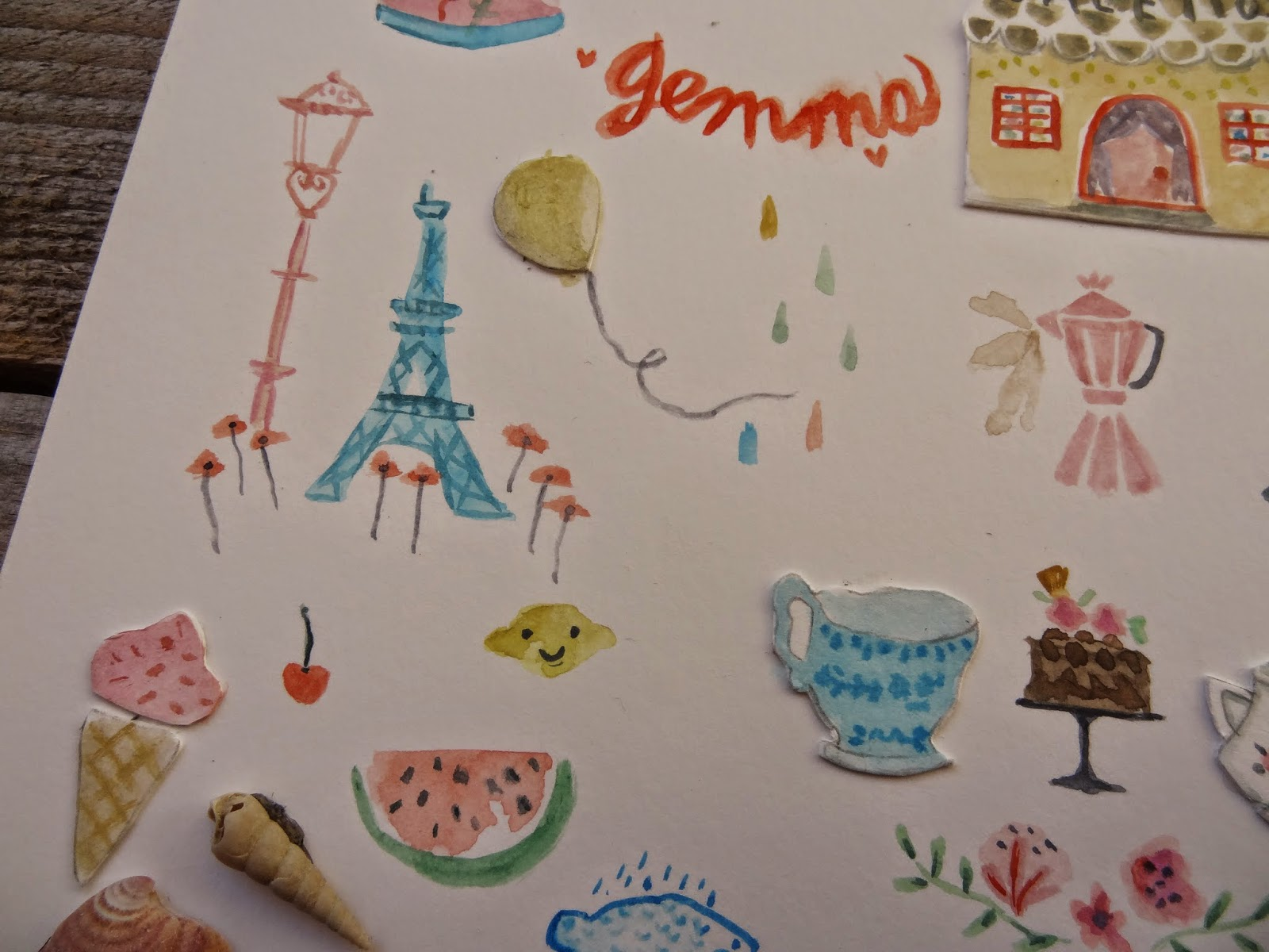 craft manualidades ice cream summer dibujo paris Eiffel Tower  cake home watermelon shell