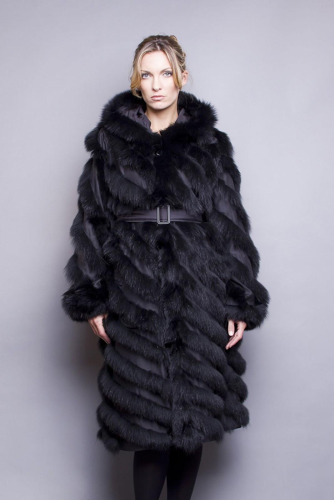 Manteau de fourrure renard femme