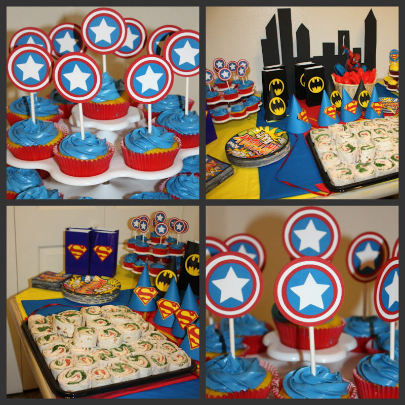 lilli 39 s baby shower creations ethan 39 s super hero birthday party