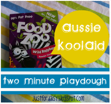 Just For Daisy :: Aussie Kool Aid Playdough Recipe