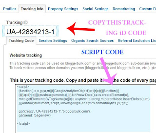 Tracking ID of Google Analytics In Blogger