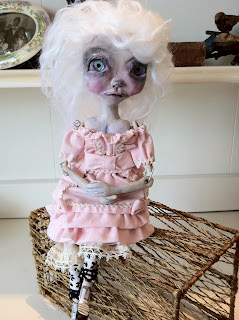 sweet gothic pink lolita art doll