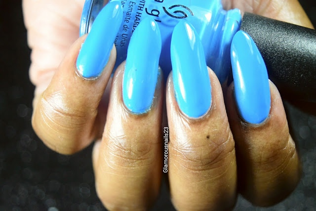 "China Glaze Electric Nights ""Dj Blue My Mind"" Swatch"