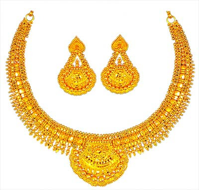 Beautifully Designed Gold Necklace Sets