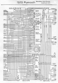 1970 Plymouth Belvedere GTX, Road Runner, And Satellite wiring diagram