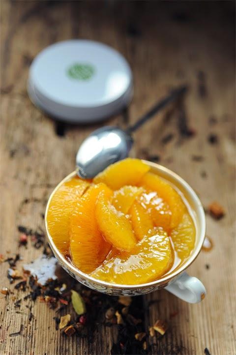 Suprêmes d'oranges au sirop chaï impérial parce que c'est le temps des… oranges !
