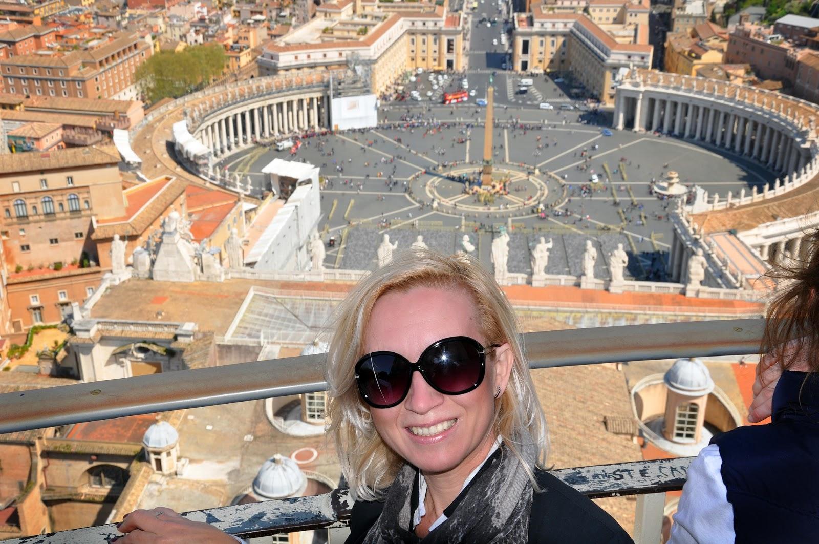 Вид с купола Святого Петра